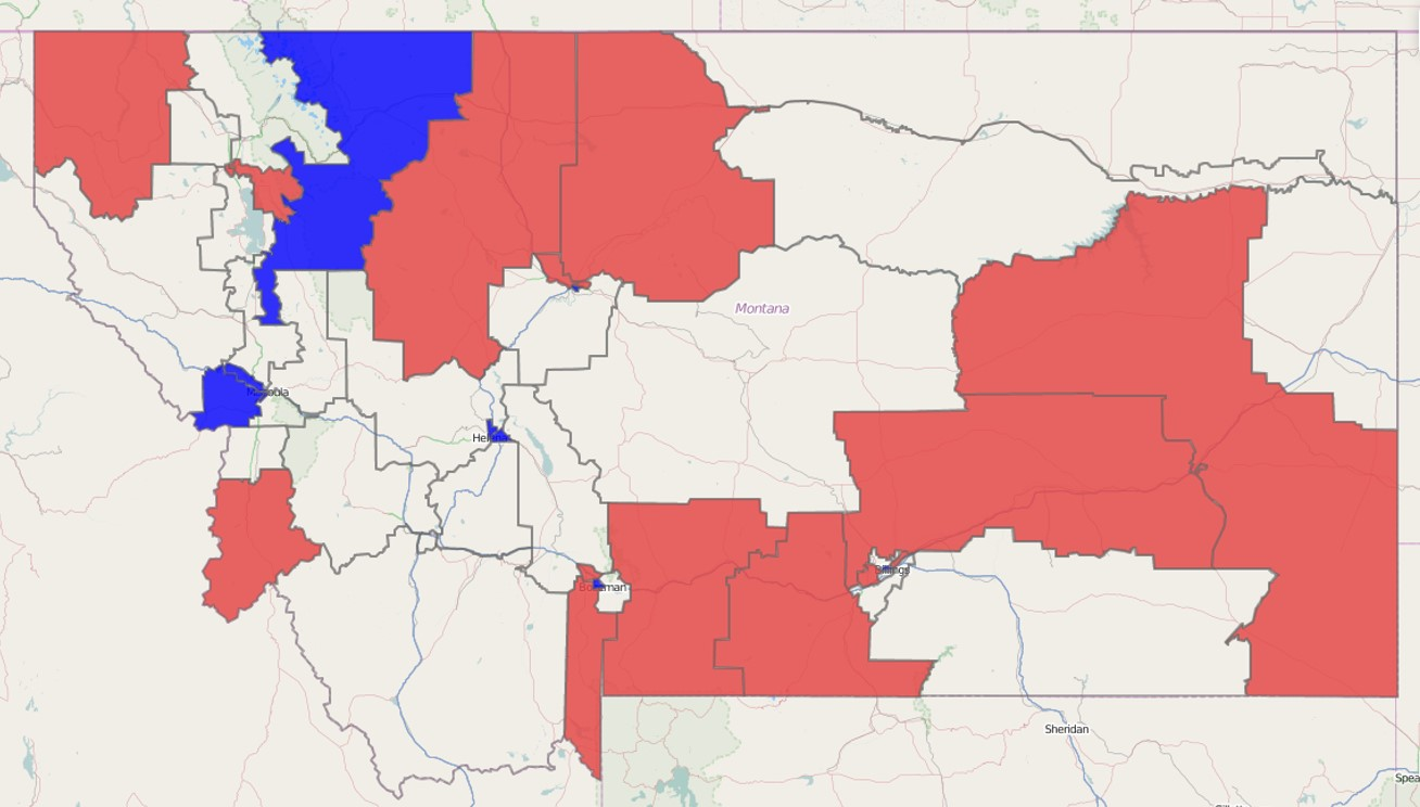 Montana State Senate Results 2014