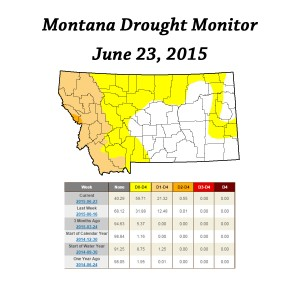 montana drought monitor june 23 2015