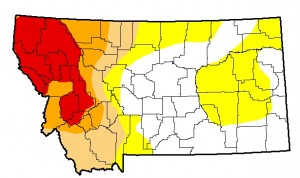 Montana Drought Monitor Update, August 4, 2015.
