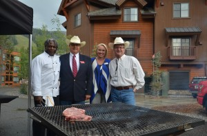 Chef Tony was excited to meet the rancher behind the night's beef!