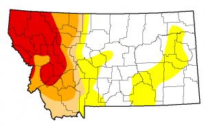 Montana Drought Monitor October 22