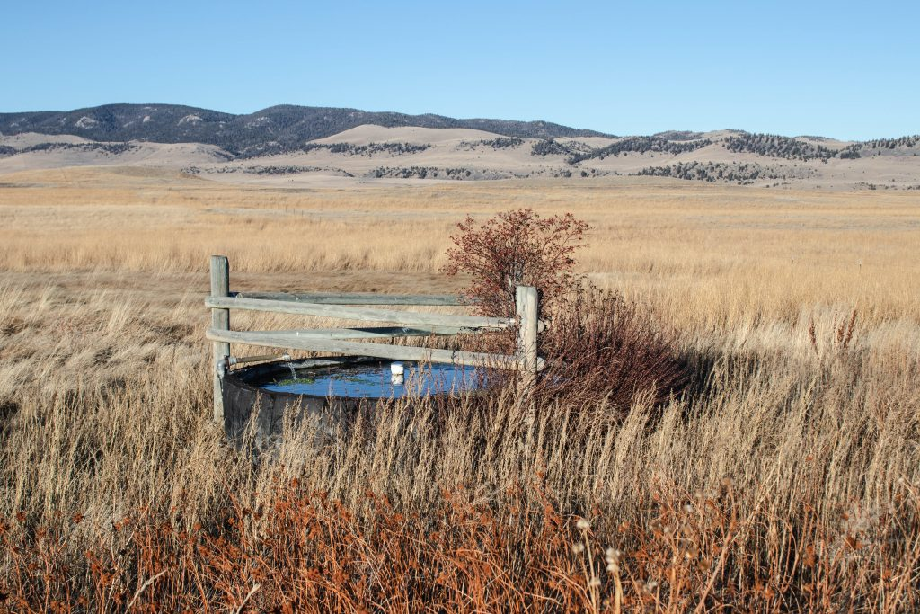 Stock water development on the TG Ranch in Martinsdale, Montana